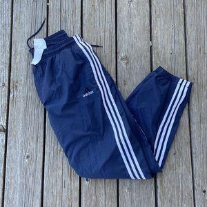 Navy Blue Adidas Windbreaker Pants